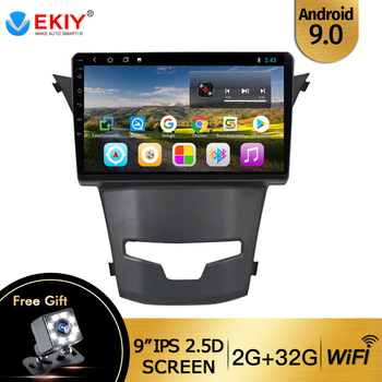 EKIY 9 IPS Android 9.0 Autoradio Multimedia Player For SsangYong Korando 2014 2015 2016 DVD WIFI Bluetooth Carplay USB TMPS OBD image