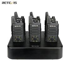 Retevis – Mini walkie talkie Radio bidirectionnel RT22S, 6 pièces, chargeur à Six voies VOX, mains libres, hôtel/Restaurant/supermarché