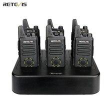 Retevis RT22S Mini Two Way Radio Walkie Talkie 6 sztuk + sześć Way ładowarka VOX wolne ręce hotelu/restauracji/Supermarket walkie talkie