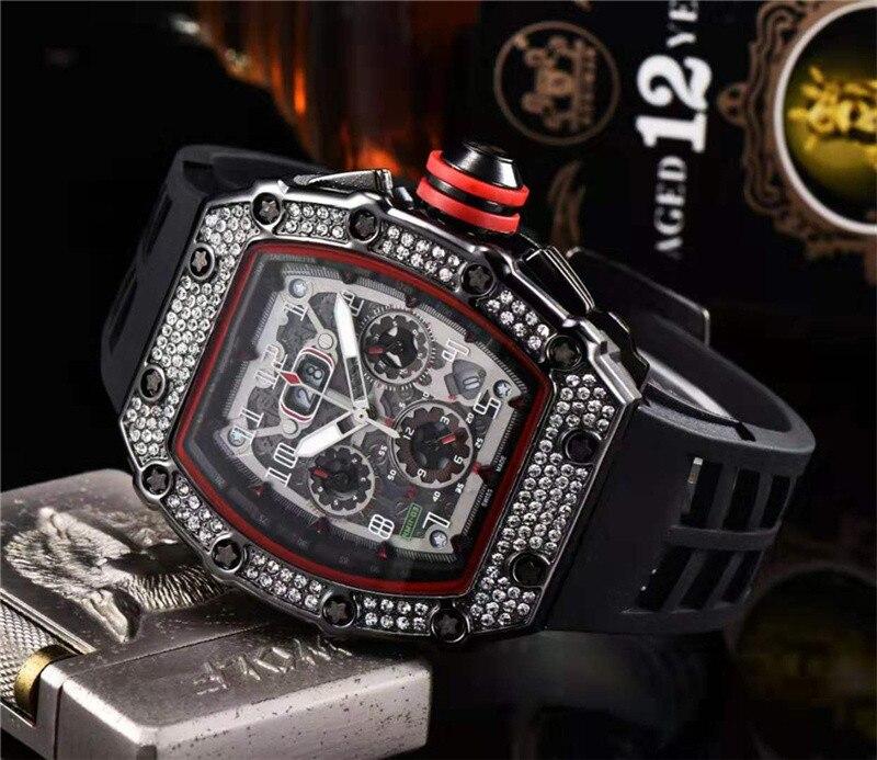 Cadeau diamant DZ digite homme montre Rlo dz Auto Date semaine affichage lumineux plongeur montres acier inoxydable poignet homme mâle horloge - 3