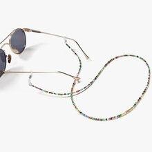 Красочные акриловые бусины цепи солнцезащитные очки Женский