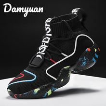 Damyuan 2019 Winter New Hot Selling Fashion Comfortable Flying Weaving Couple Sneakers Leisure Heightening Running Shoes Size 48