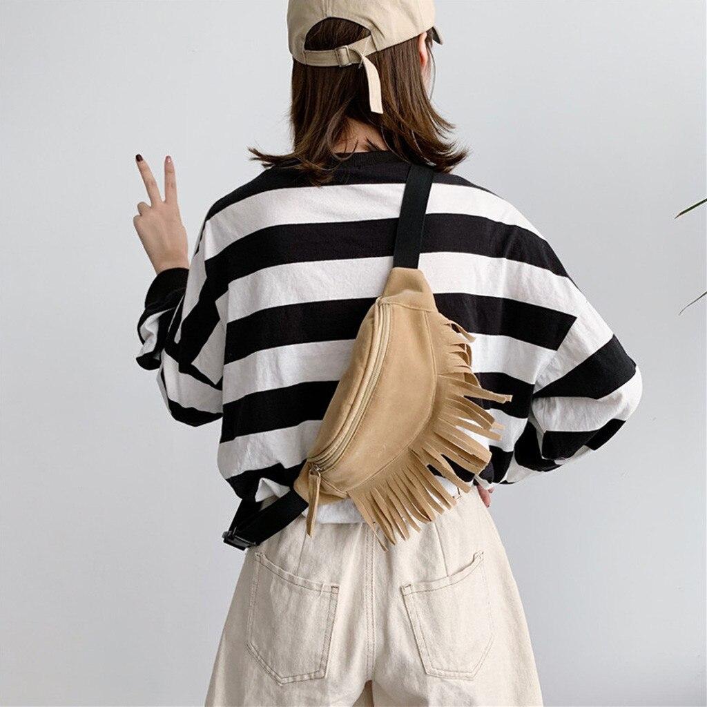 Messenger-Bag Waist-Bags Women Sport-Chest-Bag Outdoor Fashion-Design Zipper Solid