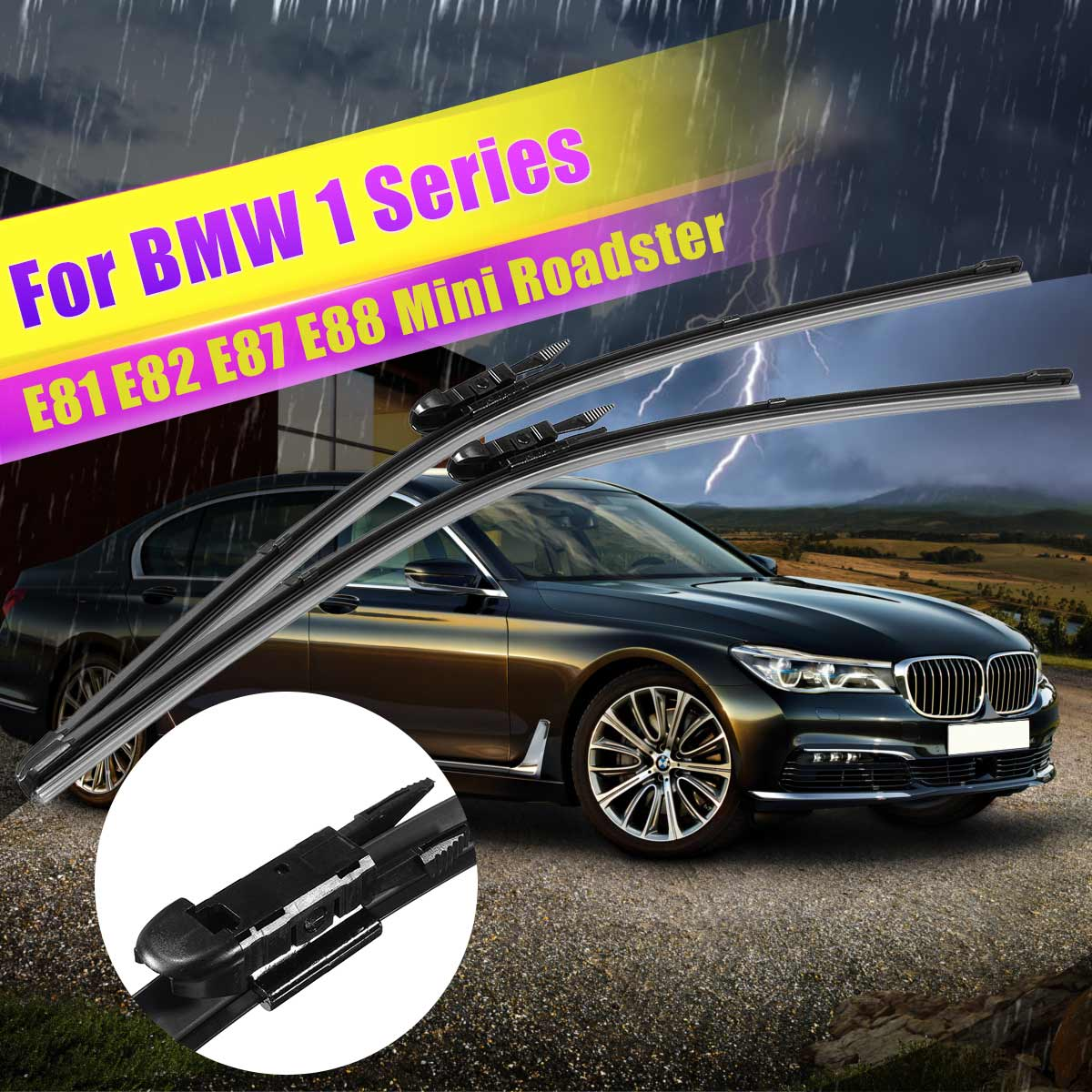 "BMW 1 series 2004-2011 FRONT WINDSCREEN WIPER BLADES 20/""20/"""