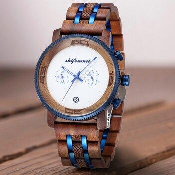 цена Shifenmei Man Watch 2020 Chronograph Sports Men Watch Brand Luxury Army Military Date Quartz Men Wrist Watch Relogio Masculino онлайн в 2017 году