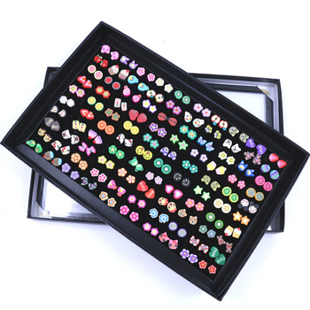 E2262 new fruit slices ls flower-like mix of cute cartoon version of its 100 small animal earring women wholesale