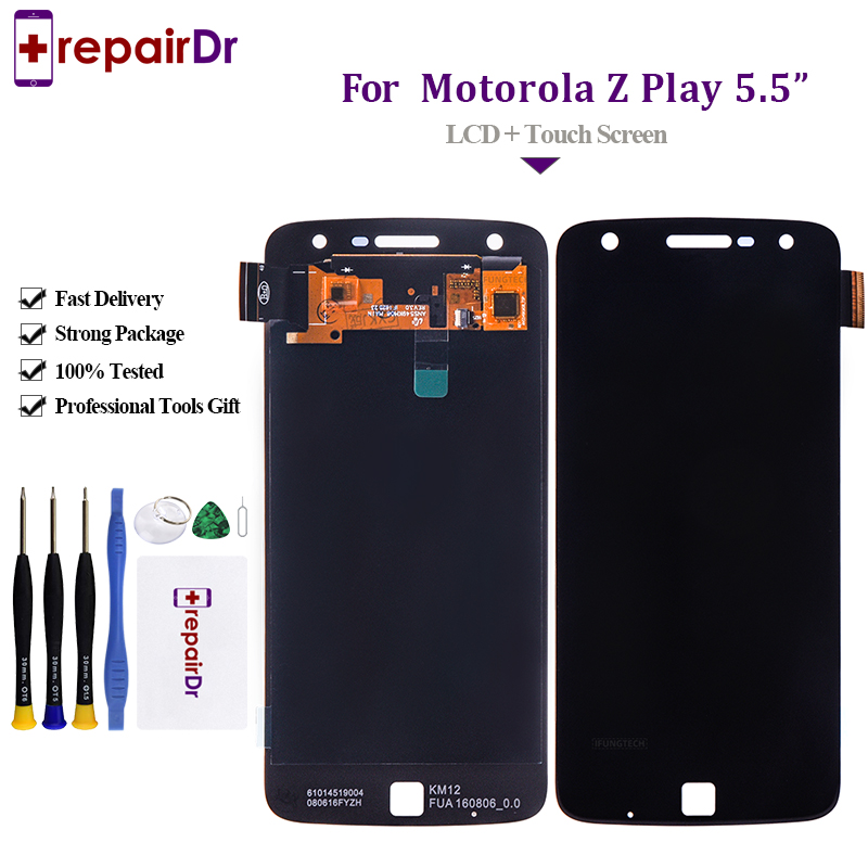 100% Tested LCD Display For Motorola Moto Z Play <font><b>XT1635</b></font> Touch Screen Digitizer 5.5 inch 1920*1080 For Moto Z Play Lcd Assembly image