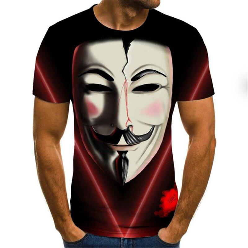 Cool Clown 3D Tshirt Men Women Hip Hop Streetwear Joker Face 3D Printed T Shirt Summer Funny Short Sleeve 3d Joker Tshirts