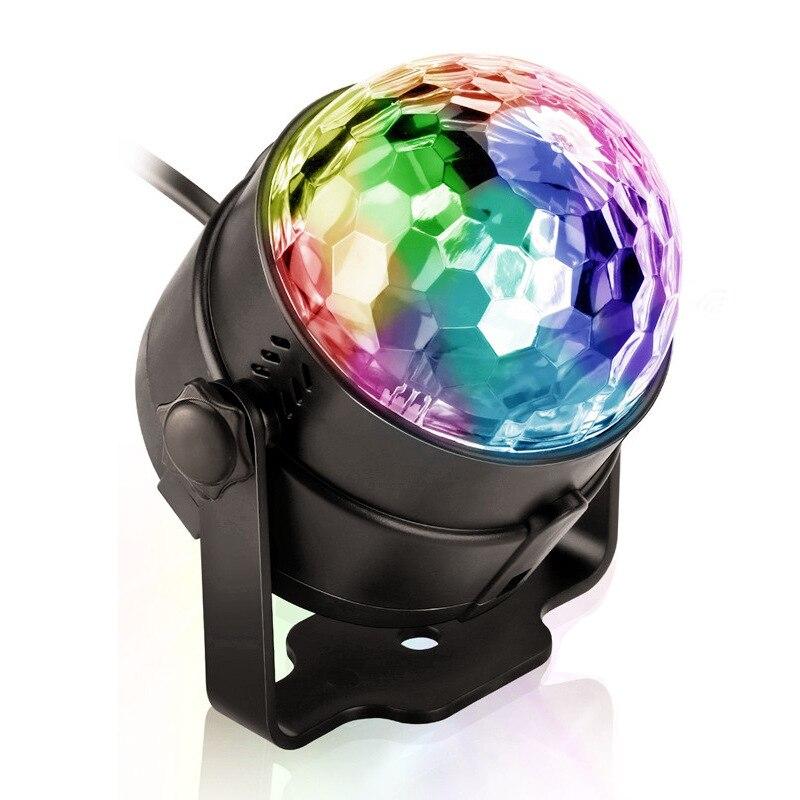 EU/US Plug RGB LED Disco Stage Light RGB Laser Projection Lamp Music Stage Lighting Show Home Party KTV DJ Dance Floor Lighting