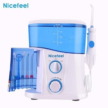Nicefeel regulowany 10 poziom nić dentystyczna wody irygator doustny Flosser do czyszczenia zębów 1000ML zbiornik o dużej pojemności sterylizacji UV tanie i dobre opinie VamsLuna CN (pochodzenie) Elektryczny irygator do jamy ustnej dla dorosłych MA-0424 Electric Oral Irrigator White Blue