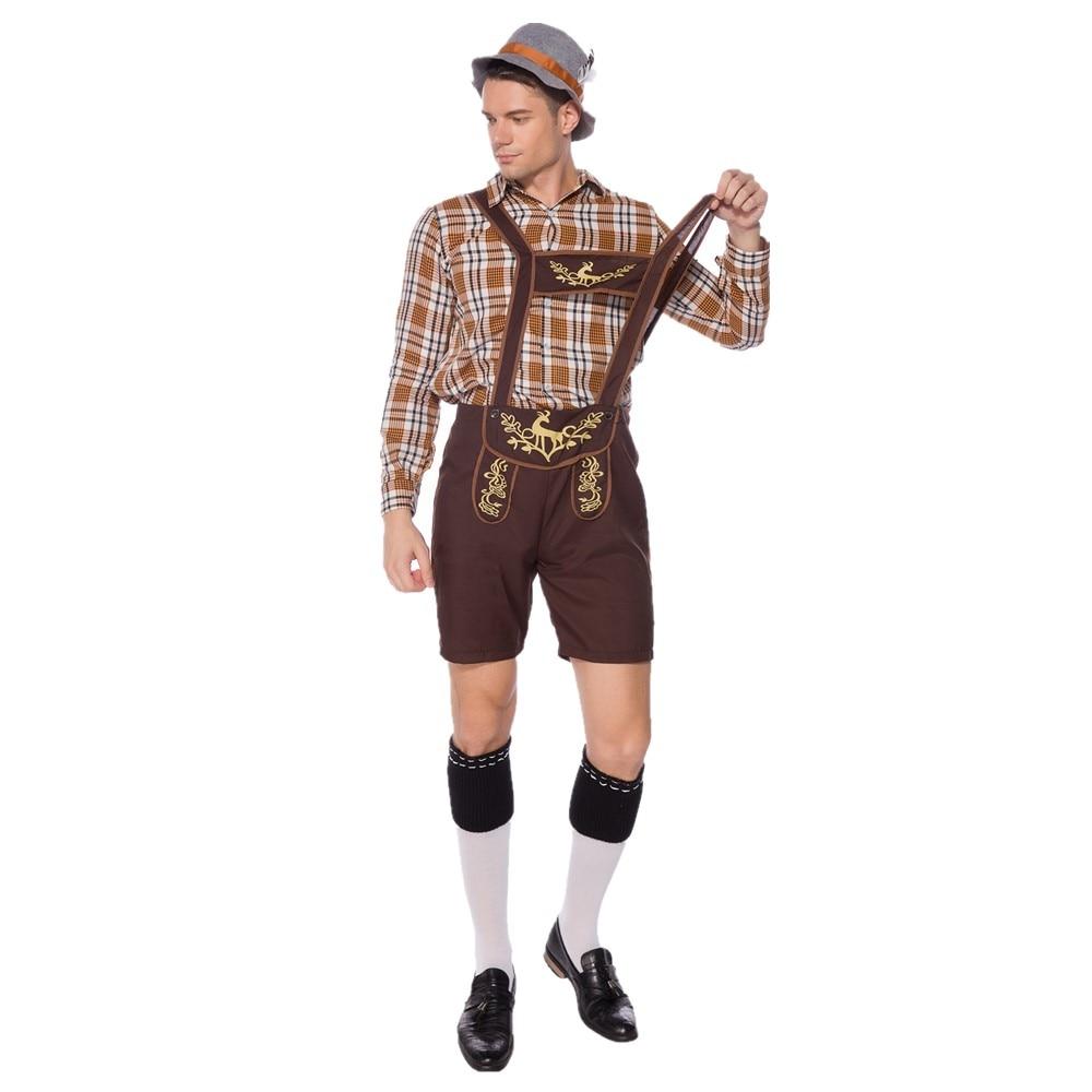 Deluxe Oktoberfest Trenker Hat Mens Costume Bavarian German Fancy Dress Alpine