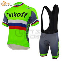 Cycling Clothing 2019 Saxo Bank Tinkoff Bike Clothing Anti-UV Bicycle Wear/Short Sleeve Cycling Jersey Ropa Ciclismo Triathlon(China)