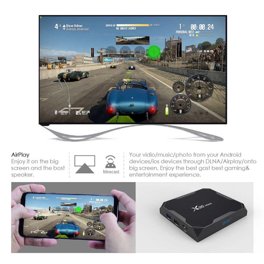 2020 Android 9.0 TV Box X96 Max Plus Amlogic S905x3 8K lecteur multimédia intelligent 4GB RAM 64GB ROM X96Max décodeur QuadCore 5G Wifi