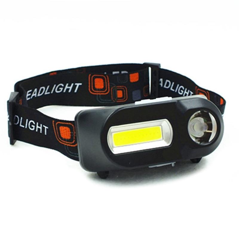 Mini COB LED Headlight Headlamp Head Lamp Flashlight USB Rechargeable 18650 Torch Camping Hiking Night Emergency Supplies