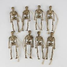 8Pcs Horrible Simulation Skeleton Ornament Halloween Party Haunted House Props Humans Skeletons