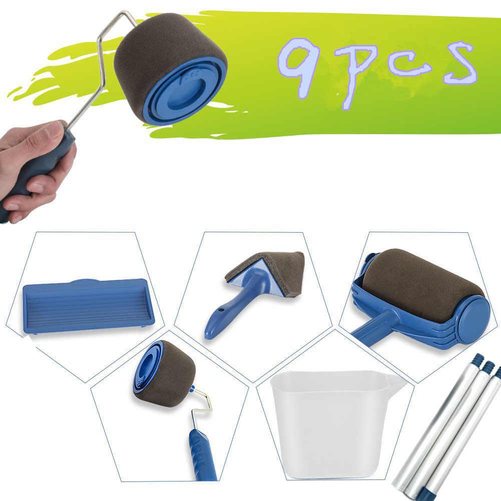 8pcs Decorare La Parete Rullo di Pittura Brush Set Vernice Runner Pro Corredo della Spazzola di Casa Multifunzionale Rulli di Vernice Runner Pro Tools set