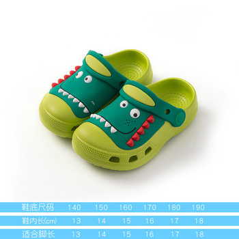 2-18y Kids Mules & Clogs Summer Baby Toddler Boys And Girls Croc Sandals Cartoon Dinosaur Slippers Children's Garden Shoes H19 - as picture, 20