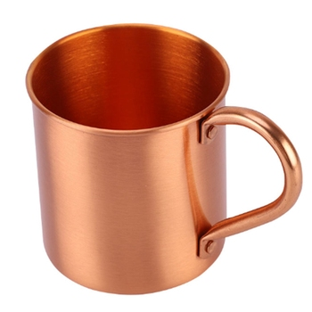 Pure Copper Moscow Mule Mug Solid Smooth Without Inside Liner For Cocktail Coffee Beer Milk Water Cup Home Bar Drinkware Cool