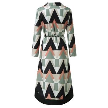2021 Fashion Women Holiday Style Feminino Print Casual Plus Size Ladies Dress Elegant Day Dress Summer Sexy V-Neck Knitwear Robe 5