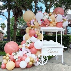 Global Globos de fiesta para boda guirnalda arco Macaron blanco Ballon adulto chico 1St cumpleaños aniversario Globos decoración para fiesta de bienvenida de bebé