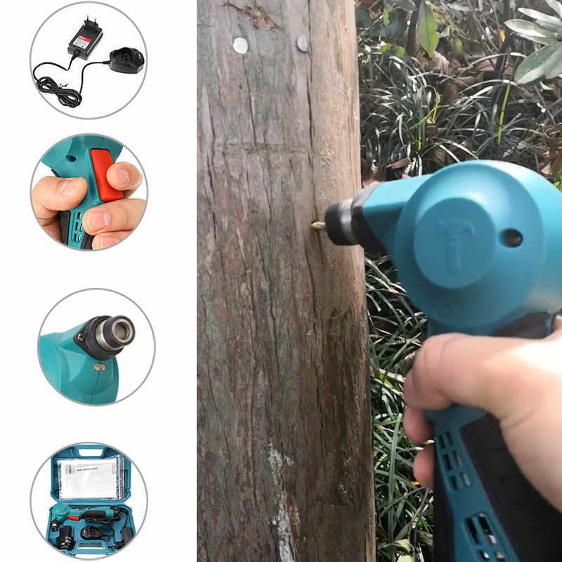 12V Cordless Winkel Elektrische Hammer Lithium-Ionen Filet Hammer Bohrer Elektrische Nagler Auswirkungen Hammer Mit LED Licht