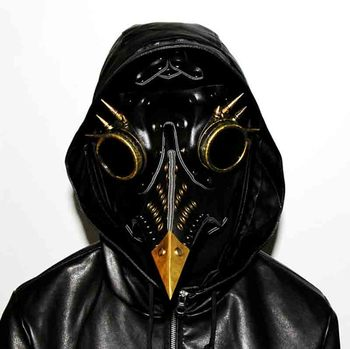 Helloween Long Mouth Bird Masks Steampunk Plague Doctor Cosplay Fancy Disguise Gothic Vintage PU Leather Masks For Women Men halloween cosplay steampunk plague doctor mask bird beak props gothic masks