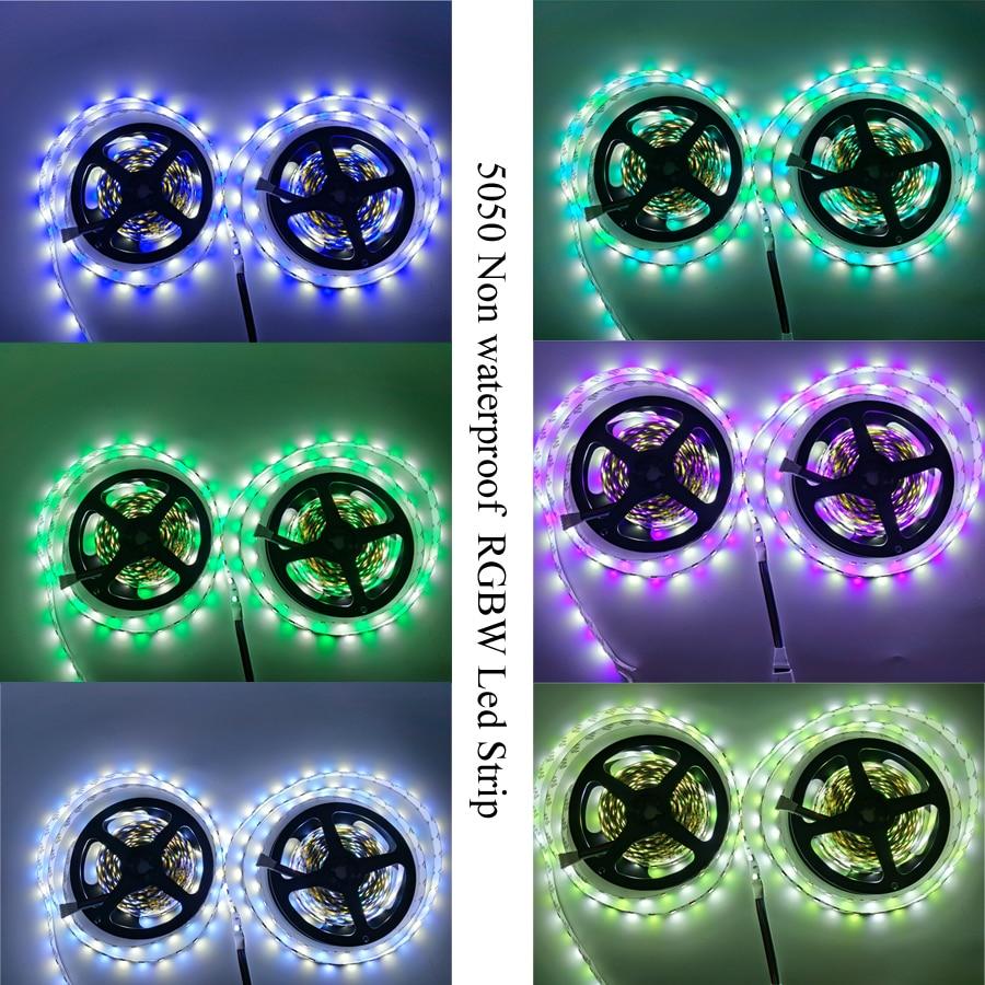 Ha913d126766f4ff29a38ad749b8fd158K 5050 LED Strip WIFI RGB RGBW RGBWW 5M 10M 15M RGB Led Color Changeable Flexible LED Strip Light + WIFI Remote Controller + Power