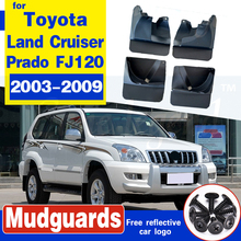 OE Styled Molded Mud Flaps For Toyota Land Cruiser Prado FJ120 120 2003-2009 Mudflaps Splash Guards Mudguards Front or Rear for toyota prado fj120 lc120 2700 4000 back side bumper light 2003 2008 red color