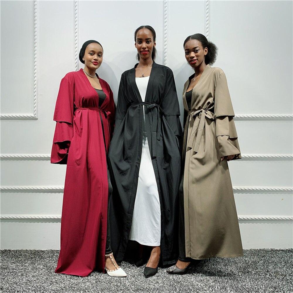 Abaya Kimono Cardigan Turkish Muslim Hijab Dress Saudi Arabia African Dresses For Women Kaftan Dubai Caftan Islamic Clothing UAE