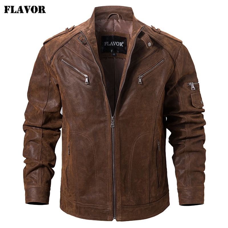 Men s Pigskin Real Leather Jacket Genuine Leather Jackets Motorcycle Jacket Coat Men Innrech Market.com