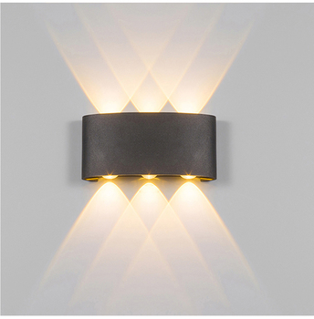Outdoor Waterproof LED Porch Lights Home Decor Up and Down Wall Light Aluminum Wall Lamp for Yard Corridor Balcony Aside