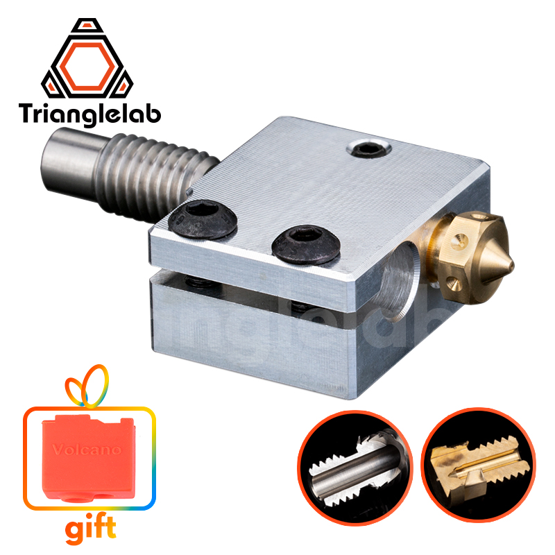 Trianglelab 3D Printer Volcano Heater Block   High quality Nozzle   heat breaker for 3D printer For E3D Hotend DIY 3D Printer