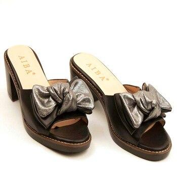 Παπούτσια open toe με φιόγκο