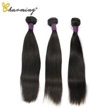 CHARMING Brazilian Straight Hair Weave Bundles Natural Color Beautiful Princess Human Hair Bundles 3 PCS 100% 8-30inch Remy Hair цены