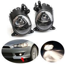 цена на Front Bumper Driving Fog Light Lamp For Mitsubishi Lancer 2008 2009-2014 h11 wire