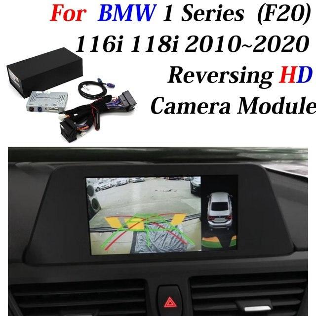 רכב קדמי אחורי מצלמה גיבוי חניה מצלמה מפענח עבור BMW 1 סדרת F20 116i 118i 2010 ~ 2020 ממשק מתאם תצוגת לשפר