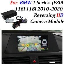 Decodificador de cámara frontal y trasera de estacionamiento de respaldo para BMW 1 Series F20 116i 118i 2010 ~ 2020, adaptador de interfaz con pantalla mejorada