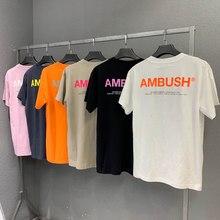Camiseta de alta calidad para hombre y mujer, informal, algodón naranja reflectante, Hip Hop Ambush, 1:1, top