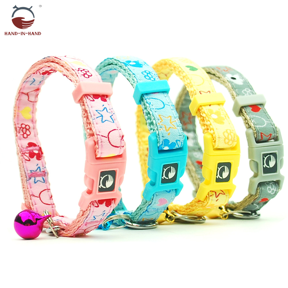 Hand-in-hand Pet Supplies Pet Collar Dogs And Cats Pet Bell Neck Ring Collar Flower Star Small Car Neck Band