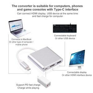 Image 2 - USB HDMI Type c Hdmi 3.0 charging converter Adapter Type C to HDMI USB 3.0 Type C aluminum hub for Macbook adapter smartphone