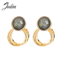 JOOLIM Simple Double Circle Piercing Earring Dangle