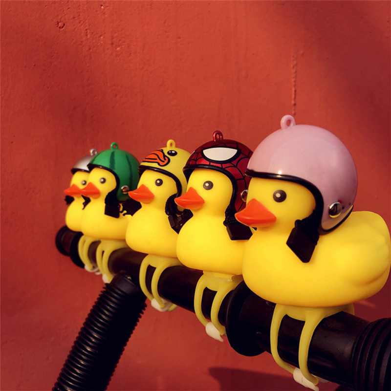 Cycling Lights Bicycle Lights Duck with Helmet Small Broken Wind Yellow Duck Road Bike Motor Helmet Riding Bicycle Accessories