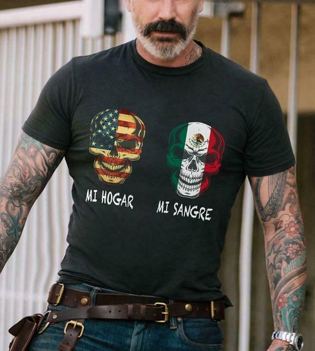 Mi hogar mi sangre Black T-Shirt Men