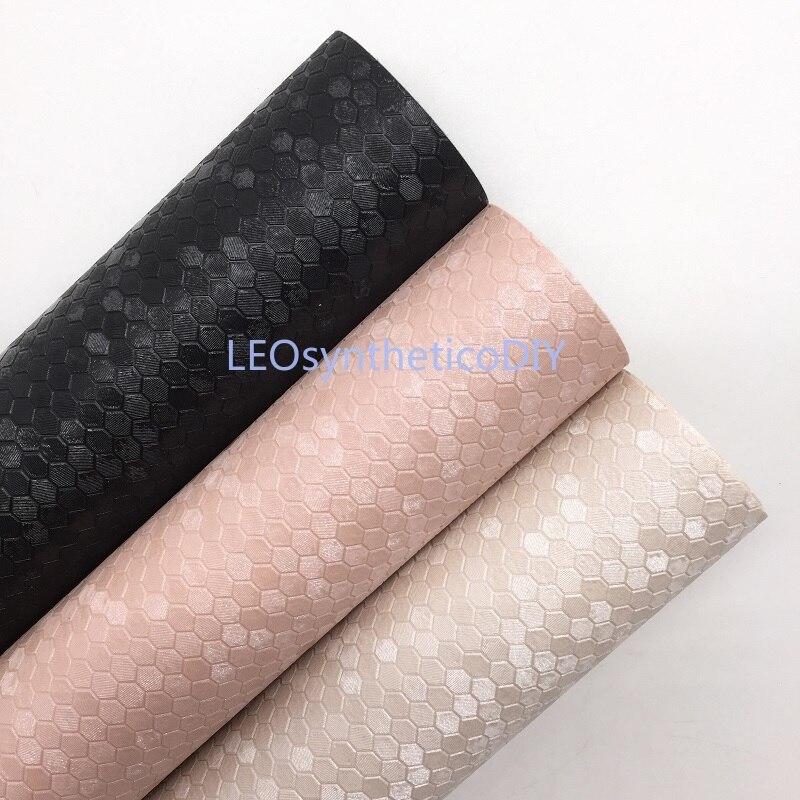 1 шт. 21 х29 см сотовая тисненая искусственная кожа ткань, синтетическая кожа ткань кожаный лист для изготовления бантов LEOsyntheticoDIY S163