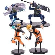 Figuras de acción de Naruto, Hatake Kakashi, Naruto Shippuden Anime, 4 estilos, modelo regalo de PVC para niños, alta calidad