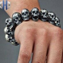 Skull Bracelet Skull 925 Sterling Silver Bracelet Bracelet Bracelet