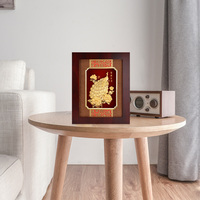 Asklove Wall hanging picture Gold Peacock painting 24K Gold foil painting Modern Wall art Framed picture Home decoration Gifts
