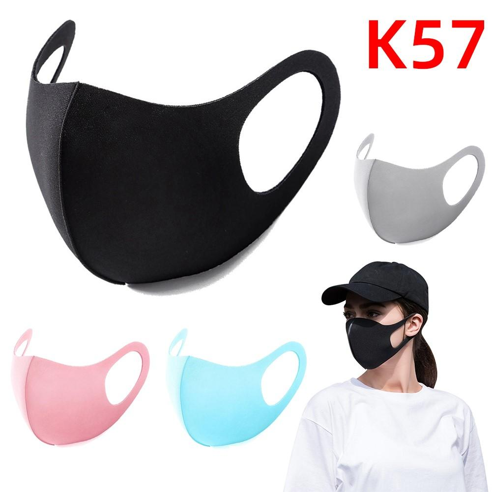 Black Mouth Mask Breathable Unisex Sponge Face Mask Reusable Anti Pollution Face Shield Wind Proof Mouth Cover