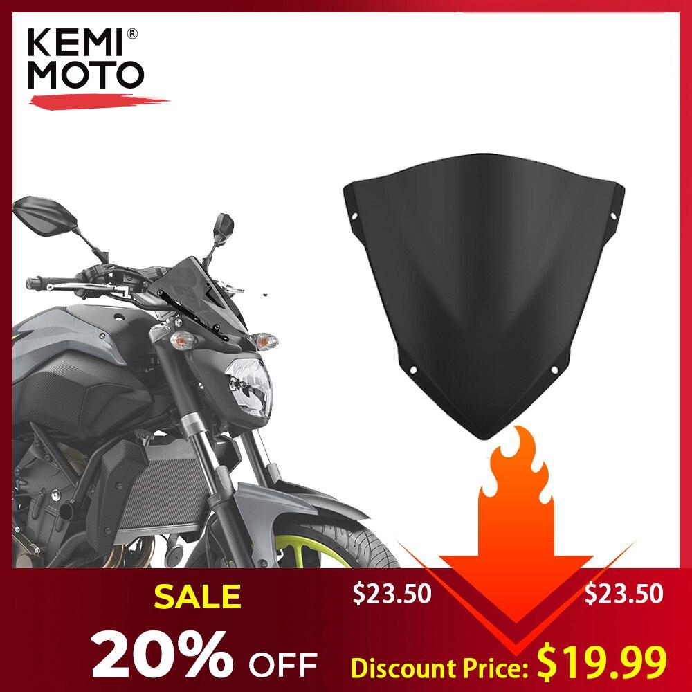 KEMiMOTO For YAMAHA MT07 MT-07 Windshield WindScreen For FZ07 2014 2015 2016 2017 Wind Deflectors Motorcycle Accessories
