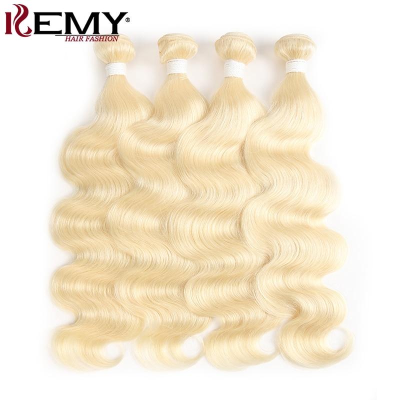 Brazilian Body Wave Hair Bundles 613 Color 100% Human Hair Weave Bundles 8-26inch Non-Remy Hair Extension 1 Piece KEMY HAIR